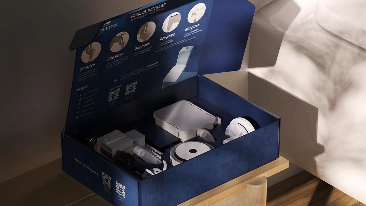 WC SENSOR packaging